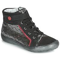 Παπούτσια Κορίτσι Ψηλά Sneakers Catimini ROSIERE Black / Silver