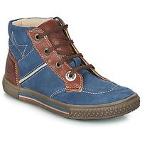 Παπούτσια Αγόρι Μπότες Catimini RUMEX Nuv / ΜΠΛΕ-ΚΙΤΡΙΝΟΜΑΥΡΟ / Dpf / Strike