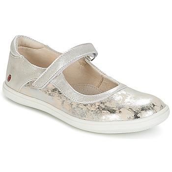 Παπούτσια Κορίτσι Μπαλαρίνες GBB PLACIDA Beige / Argenté
