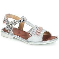 Παπούτσια Κορίτσι Σανδάλια / Πέδιλα GBB MARIA Silver / Άσπρο