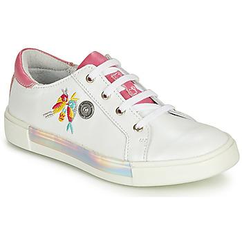 Παπούτσια Κορίτσι Χαμηλά Sneakers Catimini SYLPHE Άσπρο