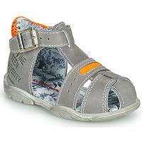 Παπούτσια Αγόρι Σανδάλια / Πέδιλα Catimini SPHINX Nus /  γκρι-πορτοκαλί / Fluo / Dpf / Filou