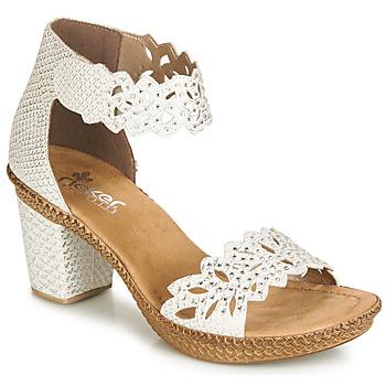 Παπούτσια Γυναίκα Σανδάλια / Πέδιλα Rieker BELALIER Άσπρο