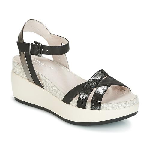 Παπούτσια Γυναίκα Σανδάλια / Πέδιλα Lumberjack BLANCHE Black / Argenté
