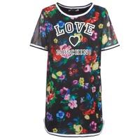 Υφασμάτινα Γυναίκα Κοντά Φορέματα Love Moschino W5A0302 Black / Multicolour