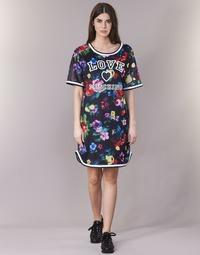 Υφασμάτινα Γυναίκα Κοντά Φορέματα Love Moschino W5A0302 Black / Multicolore