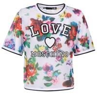 Υφασμάτινα Γυναίκα Μπλούζες Love Moschino W4G2801 Άσπρο / Multicolore