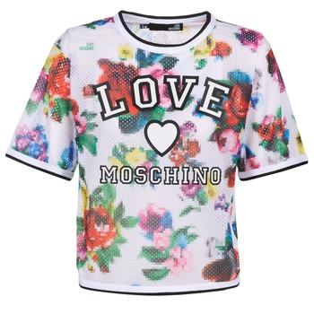 Υφασμάτινα Γυναίκα Μπλούζες Love Moschino W4G2801 Άσπρο / Multicolour