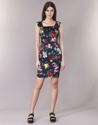 Υφασμάτινα Γυναίκα Κοντά Φορέματα Love Moschino WVG3100 Black / Multicolore