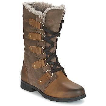 Παπούτσια Γυναίκα Μπότες για την πόλη Sorel EMILIE LACE Brown