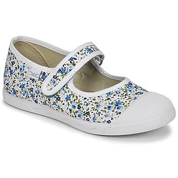 Παπούτσια Κορίτσι Μπαλαρίνες Citrouille et Compagnie APSUT Μπλέ / Άσπρο