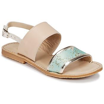 Παπούτσια Κορίτσι Σανδάλια / Πέδιλα Citrouille et Compagnie IOCHARLI Beige / Μπλέ