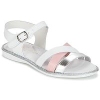 Παπούτσια Κορίτσι Σανδάλια / Πέδιλα Citrouille et Compagnie IZOEGL Άσπρο / Ροζ / Argenté