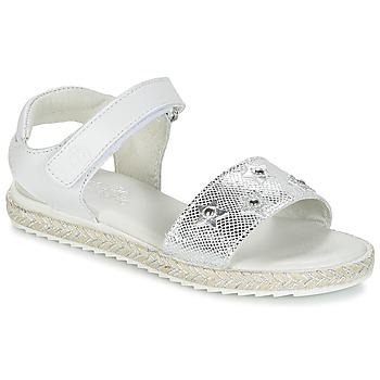 Παπούτσια Κορίτσι Σανδάλια / Πέδιλα Citrouille et Compagnie ILEVANDOK Άσπρο / Argenté