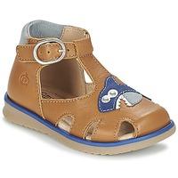 Παπούτσια Αγόρι Σανδάλια / Πέδιλα Citrouille et Compagnie ISKILANDRO Brown / Μπλέ