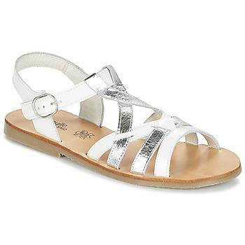 Παπούτσια Κορίτσι Σανδάλια / Πέδιλα Citrouille et Compagnie IMONGI Άσπρο / Argenté