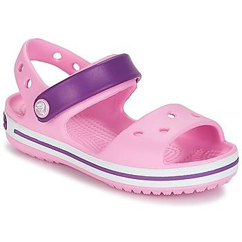 Παπούτσια Κορίτσι Σανδάλια / Πέδιλα Crocs CROCBAND SANDAL Carnation / Pink / Purple