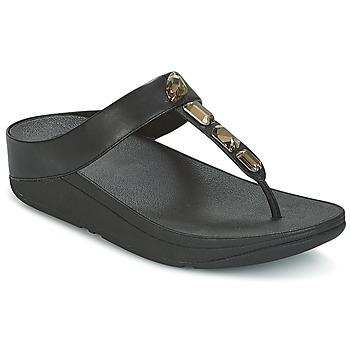 Παπούτσια Γυναίκα Σαγιονάρες FitFlop ROKA TOE-THONG SANDALS Black