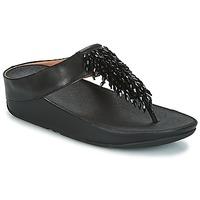 Παπούτσια Γυναίκα Σαγιονάρες FitFlop CHA-CHA TOE-THONG SANDALS CRYSTAL Black