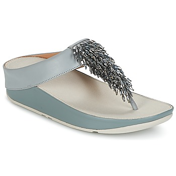 Παπούτσια Γυναίκα Σαγιονάρες FitFlop CHA-CHA TOE-THONG SANDALS CRYSTAL Μπλέ
