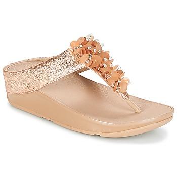Παπούτσια Γυναίκα Σαγιονάρες FitFlop BOOGALOO TOE POST Ροζ / Χρυσο