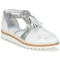 Παπούτσια Γυναίκα Derby Regard RASTANU Άσπρο / Argenté