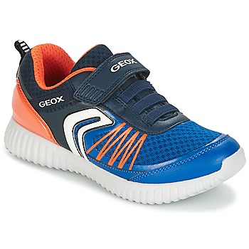 Παπούτσια Αγόρι Χαμηλά Sneakers Geox J WAVINESS B.C Marine / Orange
