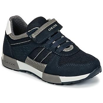Παπούτσια Αγόρι Χαμηλά Sneakers Geox J ALFIER B. A Marine / Grey