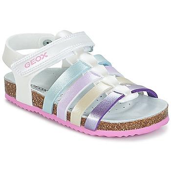 Παπούτσια Κορίτσι Σανδάλια / Πέδιλα Geox J N.S.ALOHA G. C Άσπρο / Multicolour