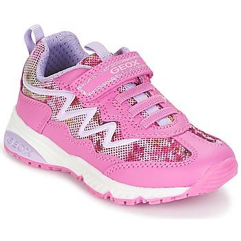 Παπούτσια Κορίτσι Χαμηλά Sneakers Geox J BERNIE G. A Ροζ / Μώβ / Άσπρο