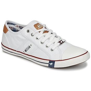 Παπούτσια Άνδρας Χαμηλά Sneakers Mustang TIRON Άσπρο