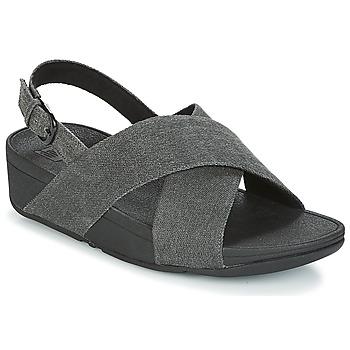 Παπούτσια Γυναίκα Σανδάλια / Πέδιλα FitFlop LULU CROSS BACK-STRAP SANDALS Black
