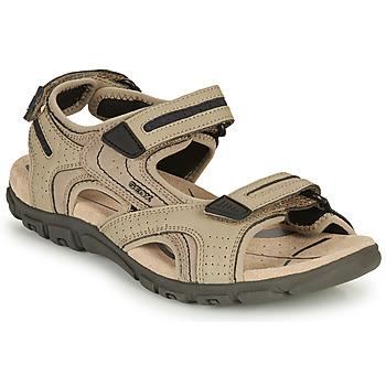 Παπούτσια Άνδρας Σπορ σανδάλια Geox S.STRADA D Sable / Black