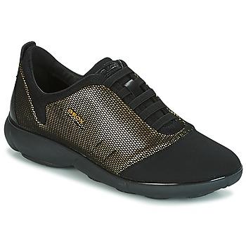 Παπούτσια Γυναίκα Χαμηλά Sneakers Geox D NEBULA C Gold / Black