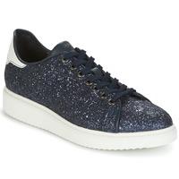 Παπούτσια Γυναίκα Χαμηλά Sneakers Geox D THYMAR C Μπλέ / Άσπρο