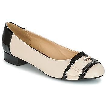 Παπούτσια Γυναίκα Μπαλαρίνες Geox WISTREY E Nude / Black