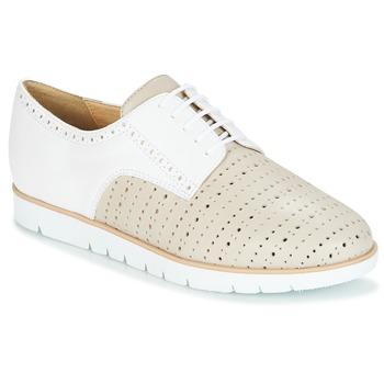 Παπούτσια Γυναίκα Derby Geox KOOKEAN Taupe / Άσπρο