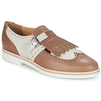 Παπούτσια Γυναίκα Derby Geox JANALEE B Sable / Άσπρο