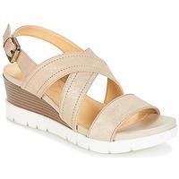 Παπούτσια Γυναίκα Σανδάλια / Πέδιλα Geox MARYKARMEN P.B Gold / Beige