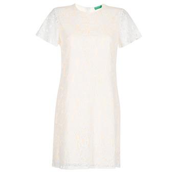 Υφασμάτινα Γυναίκα Κοντά Φορέματα Benetton PRISTOUC Άσπρο