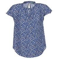 Υφασμάτινα Γυναίκα Μπλούζες Benetton TOULEOK Μπλέ / Άσπρο