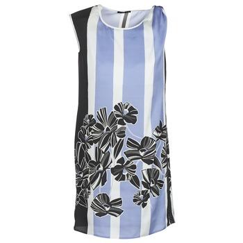 Υφασμάτινα Γυναίκα Κοντά Φορέματα Sisley LAPOLLA Μπλέ / Άσπρο / Black