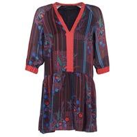 Υφασμάτινα Γυναίκα Κοντά Φορέματα Sisley CEPAME Black / Red / Μπλέ
