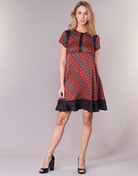 Υφασμάτινα Γυναίκα Κοντά Φορέματα Sisley ZEBRIOLO Red / Black