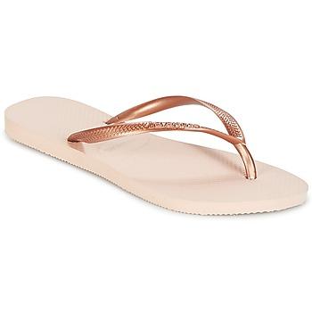 Παπούτσια Γυναίκα Σαγιονάρες Havaianas SLIM Ροζ / Gold