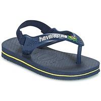 Παπούτσια Αγόρι Σαγιονάρες Havaianas BABY BRASIL LOGO Marine / Yellow
