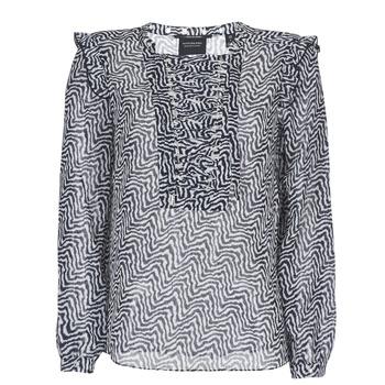 Υφασμάτινα Γυναίκα Μπλούζες Maison Scotch OLZAKD Black / Άσπρο