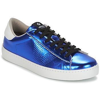 Παπούτσια Γυναίκα Χαμηλά Sneakers Victoria DEPORTIVO METALIZADO Μπλέ