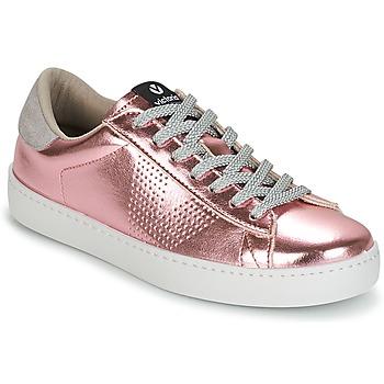Παπούτσια Γυναίκα Χαμηλά Sneakers Victoria DEPORTIVO METALIZADO Ροζ