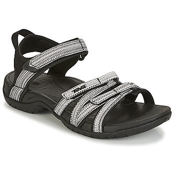 Παπούτσια Γυναίκα Σπορ σανδάλια Teva TIRRA Black / Άσπρο